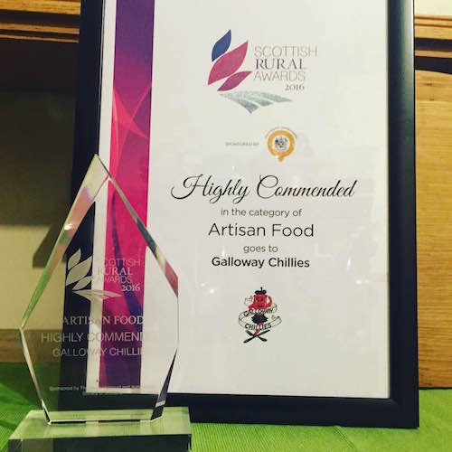 Galloway Chillies Highly Commended