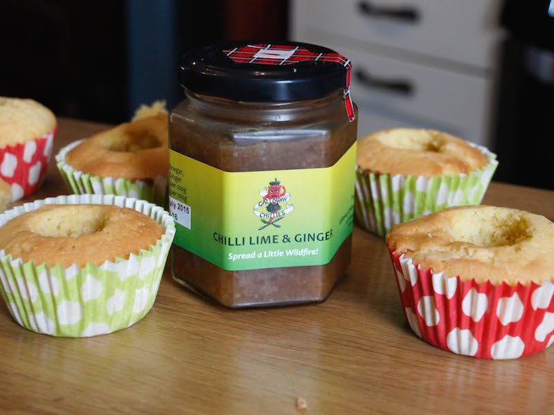 Cupcakes ready to fill with Galloway Chilli Jam